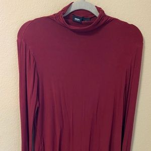 Red Long-Sleeve Turtle Neck
